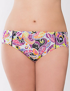 Lace trimmed hipster panty by Cacique