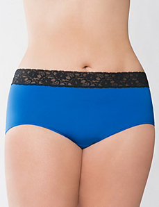 Victoria blue lace waist brief