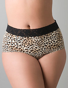 Beautiful lace waist full brief panty by Cacique