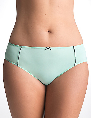 Trimmed hipster panty by Cacique