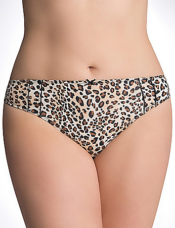 Trimmed thong panty by Cacique