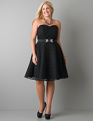 Convertible lace dress by Lane Bryant