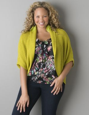 Short sleeve dolman cardigan