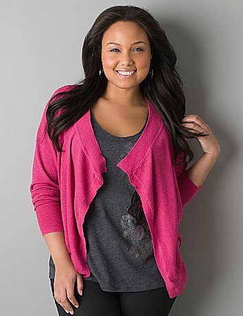 Draped sparkle cardigan by DKNY JEANS