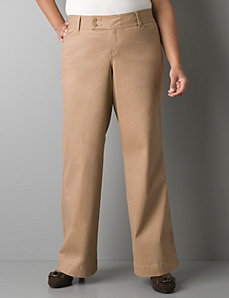 Twill pant with Tighter Tummy Technology by Lane Bryant
