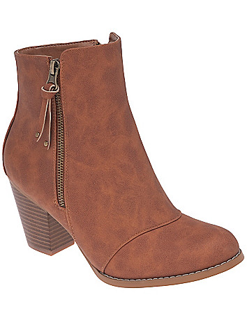 Wide width Side zip ankle boots by Lane Bryant