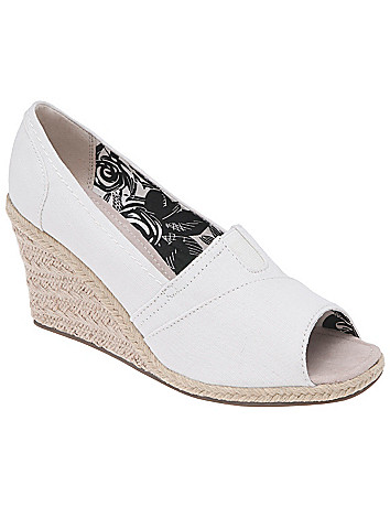 Peep toe canvas espadrille by Lane Bryant