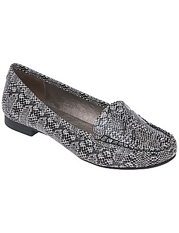 Wide width Faux snake loafer by Lane Bryant