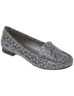 Faux snake loafer