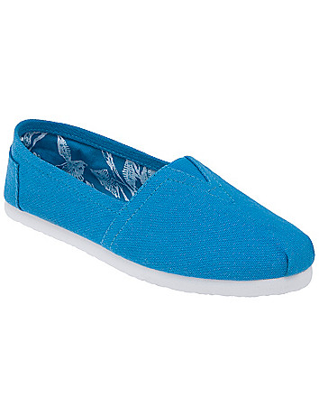 Wide width Casual canvas flat by Lane Bryant