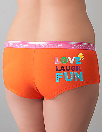 Full figure Love cotton boyshort panty by Cacique
