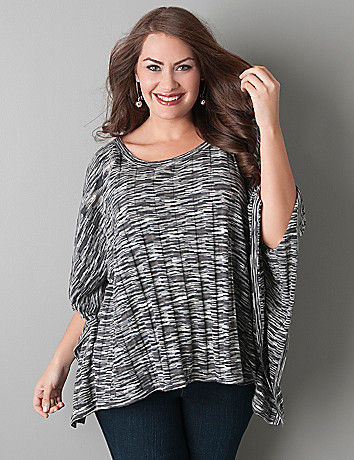Striped poncho by Lane Bryant
