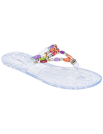 Beaded jelly sandal by Lane Bryant