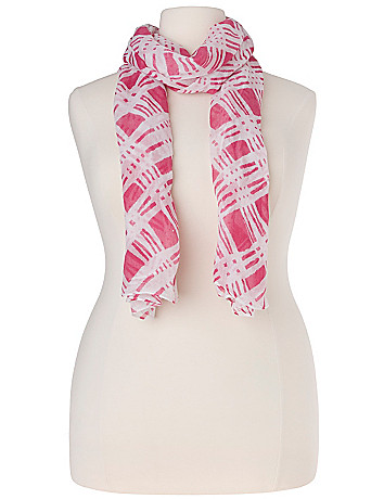 Extra large Geo print scarf by Lane Bryant