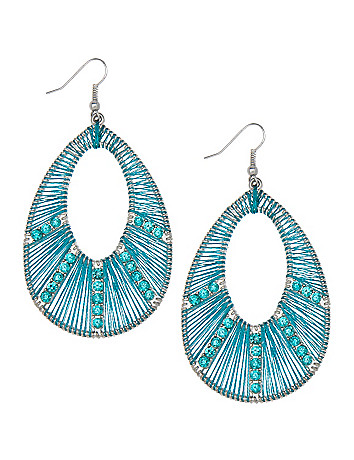 Rhinestone dream catcher earrings by Lane Bryant
