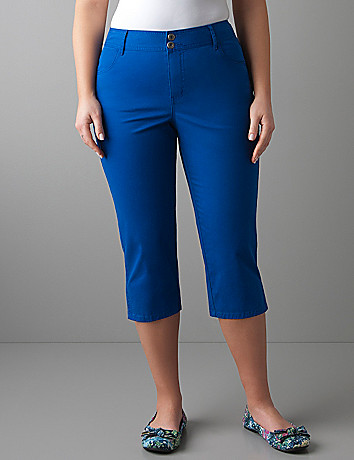 Plus size Slim fit twill capri by Lane Bryant