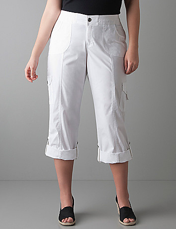 Full figure Convertible cargo pant by Lane Bryant