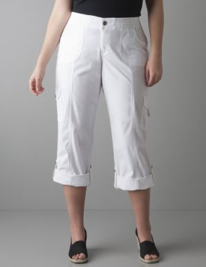 Convertible cropped cargo pant