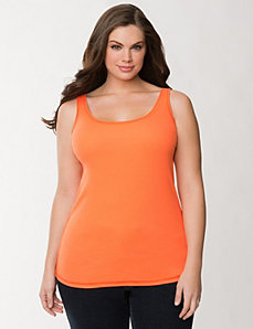 Essential Ribbed Tank by Lane Bryant