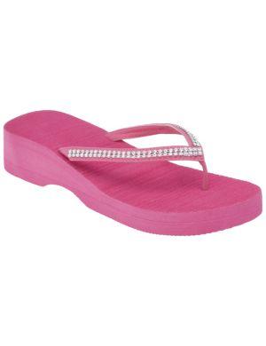Rhinestone strap wedge sandal