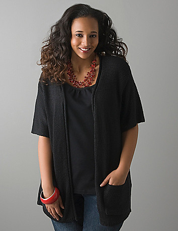 Drop shoulder cardigan by Lane Bryant