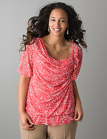 Asymmetric peasant top by Lane Bryant