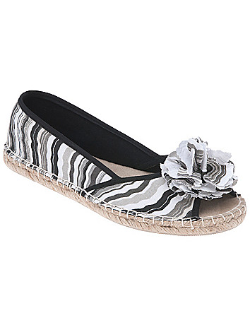 Wave print espadrille flat by Lane Bryant
