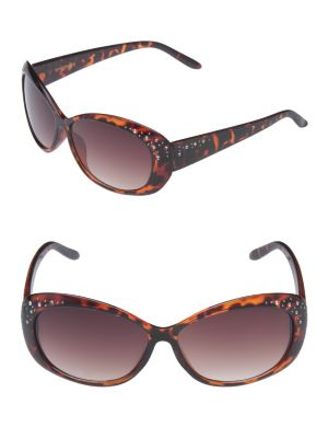 Rhinestone cat's eye sunglasses