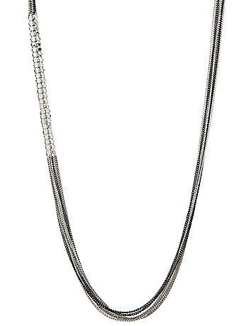 Multi chain barrel necklace by Lane Bryant