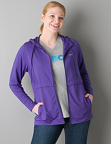 Plus size Hooded active jacket by Reebok