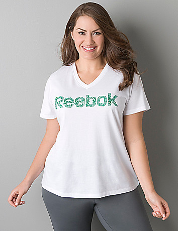 Striped graphic logo tee by Reebok