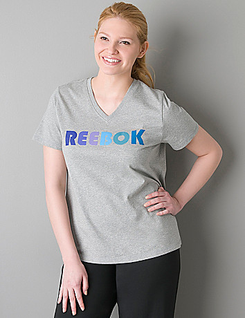 V-neck logo tee by Reebok