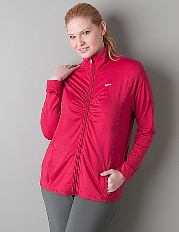 Ruched active jacket by Reebok