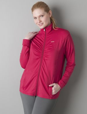 Ruched active jacket by Reebok®
