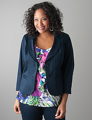 Plus size Sateen blazer by Lane Bryant