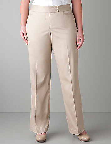 Full figure Sateen trouser by Lane Bryant