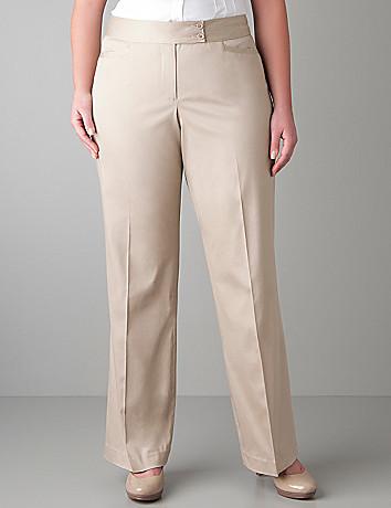 Full figure Sateen trouser by Lane Bryant
