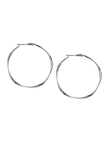 Twisted hoop earrings by Lane Bryant
