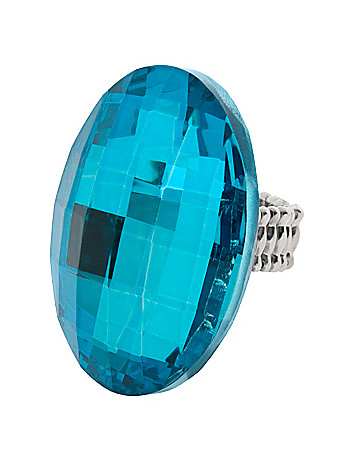 Oversized faceted ring by Lane Bryant