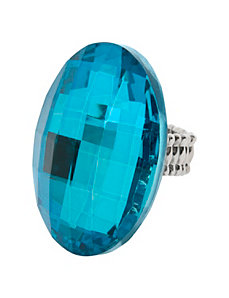 Oversized faceted ring by Lane Bryant by Lane Bryant
