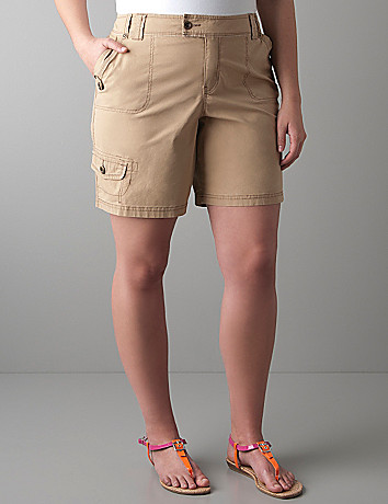 Poplin cargo short by Lane Bryant