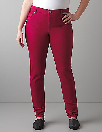 Colored skinny denim jegging by Lane Bryant