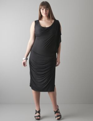 Double neckline dress by Seven7