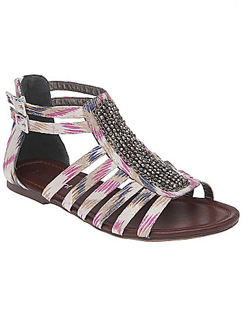 Embellished animal gladiator sandal by Lane Bryant