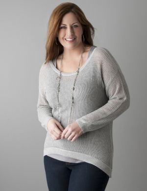 Open weave sparkle sweater