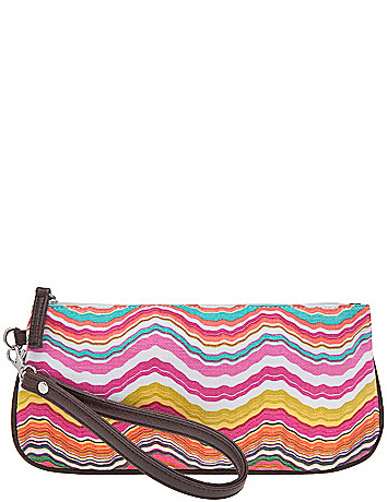 Wave print wristlet by Lane Bryant