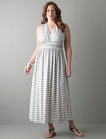 Striped halter maxi dress by Seven7