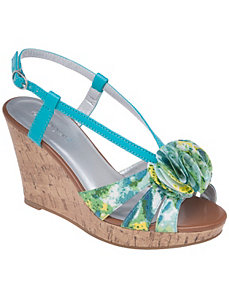 Floral wedge sandal by Lane Bryant