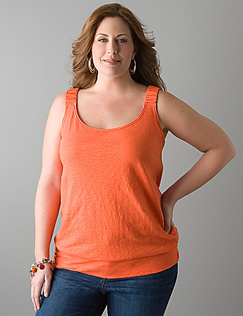 Band bottom slub tank by Lane Bryant