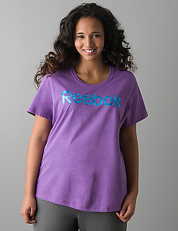 Plus size Foil logo tee by Reebok